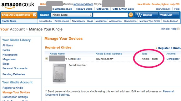 Kindle Touch looking good for UK -